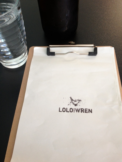 Lolo and Wren Menu